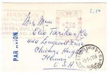 Belgian Congo POSTAL METER-LEOPOLDVILLE 3/1/51-NEW YEARS CARD-AIR MAIL