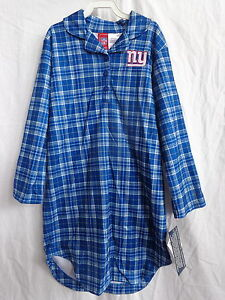New York Giants Girls Flannel Night Gown 100% Polyester Flame Resistant NWT