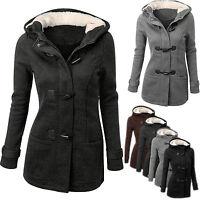 Warme Damen Wintermantel Winterjacke Mantel Jacke Coat Mit Kapuze Wollmantel NEU
