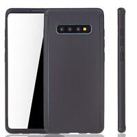 Samsung Galaxy S10 Plus Étui Coque pour Portable Housse Sac Film Blindé Noir