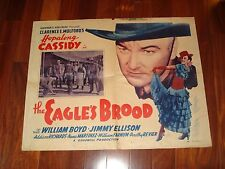 "1935 EAGLES BROOD HALF SHEET MOVIE POSTER , HOPALONG CASSIDY, 21""X27"" ORIGINAL"