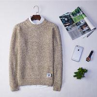 Men Casual Winter Autumn Knit Pullover Sweater Jumper Coat Long Sleeve Crew Neck
