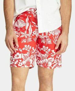 Polo Ralph Lauren Men's SZ 2XL-Big Kailua Swim Solid Trunks NWT Red Tropical