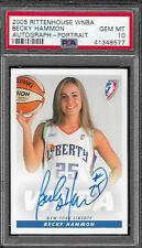 2005 Rittenhouse WNBA Becky Hammon Autograph Portrait PSA 10 Gem Mint Signed