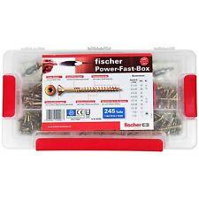Fischer Power-Fast-Box 245 tlg. Spannplatenschrauben Schrauben-Set Bit TX10 TX20