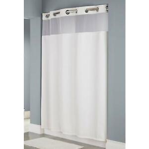 "Hookless Plainweave White Shower Curtain (71"" x 80"")"