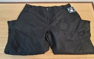 ARCTIC QUEST Black Insulated Ski Snowboard Snow Pants Size 3X Adult NWT