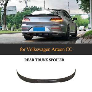 für VW Arteon CC Spoiler Glanz Schwar ABS Heckspoiler Flügel Abrisskante Lippe