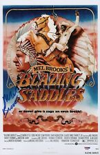 MEL BROOKS SIGNED BLAZING SADDLES 11X17 MOVIE POSTER PSA COA AD48059