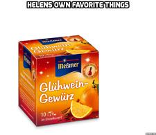 Genuine tedesco Glühwein, Vin Brulè Spice Mix. CONF. da 10 x BUSTINE. Gluhwein.