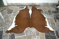 BRINDLE EXOTIC-  Rug HAIR ON SKIN  Leather Cowhide 4388-   66'' x  54''