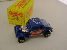 1983 MATCHBOX SUPERFAST 69 BLUE '33 WILLY'S STREET ROD 313 WHITE HEAT NEW IN BOX