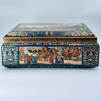 E.OTTO SCHMIDT, LARGE BISCUIT/COOKIE TIN BOX,  NURNBERG GERMANY. Pre-owned.