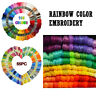 Rainbow Color Embroidery Cross Stitch Threads Bracelets Crafts Floss 55pc 105pc