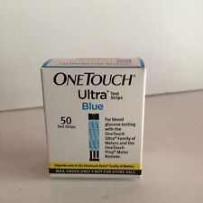 One Touch Ultra Blue Mo, Diabetic Glucose Test Strips, 50 Ct Exp:11/2020+ Sealed
