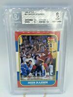 1986 Fleer Hakeem Akeem Olajuwon #82 Rookie Card BGS 8 Rockets Hard_8s_Magic