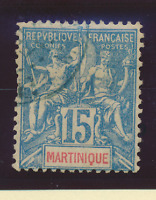 Martinique Stamp Scott #40, Used