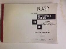orig. Rover 80 & 100 MANUAL DEL USUARIO Fotografía Pruebas marcha 1961