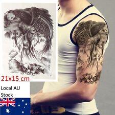 Waterproof Temp Tattoo Sticker Horror Scary Grim Reaper Large Design Body Art