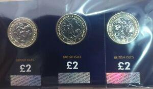 2020 Isle of Man A Christmas Carol BU £2 Two Pound Coin Set Bunc Charles Dickens