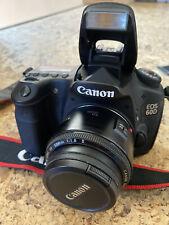 Canon EOS 60D 18.0MP Digital SLR Camera with EF 50mm f/1.8 II lens, bag, battery
