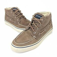 Sperry Top-Sider Bahama Mens 10.5 100% Wool Leather Hi Top Chukka Boat Shoe Boot