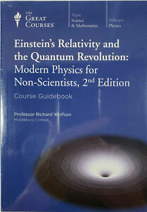 Einstein's Relativity and the Quantum Revolution Physics NEW 12 CD's and Book