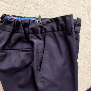 Boys Navy Blue Smart Next Trousers 9 Years Adjustable Waist VGC