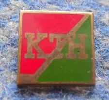 KTH KRYNICA ICE HOCKEY LUGE SKI POLAND CLUB 1970's GREATER GOLD ENAMEL PIN BADGE