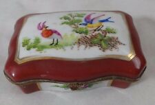 LIMOGES HAND PAINTED TRINKET BOX FRANCE
