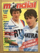 Magazine Mondial N*73 Mai 1986 Fernandez PSG Matra Papin Platini Mexico 86
