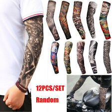 12Pcs Tattoos Cooling Arm Sleeves Cover Body Arm Stockings Tatoo Golf Sport US
