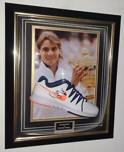 Rare Rafael Nadal Signed Tennis Shoe Autographed Tennis Display AFTAL DEALER