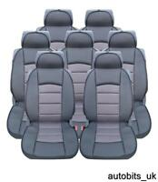 FULL SET 7X GREY PREMIUM COMFORT PADDED SEAT COVERS FOR 7 SEATER FORD GALAXY