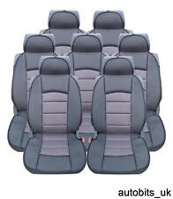 FULL SET 7X GREY PREMIUM COMFORT PADDED SEAT COVERS FOR 7 SEATER CAR MPV VAN