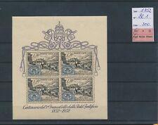 LN59430 Vatican 1952 stamp anniversary good sheet MNH cv 300 EUR
