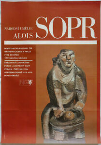 Poster Plakat - Alois Sopr - Narodni Umelec - Praha 1986
