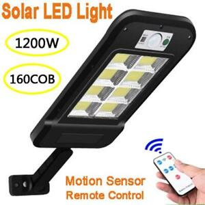 160 COB solar waterproof Motion sensor Remote control 1200W For home security