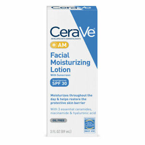 CeraVe AM Facial Moisturizing Lotion with SPF 30 3 fl oz (89ml) US Formula