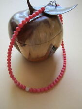 Coral Round Beaded Costume Necklaces & Pendants