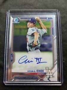 2021 Bowman Chrome HYUN-IL CHOI RC 1st Bowman On Card AUTO Dodgers  #COA-HC