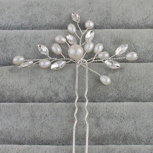 Bridal Accessories Pearls Wedding Flowers Hair Pins Clips Jewelry Comb Headpiece
