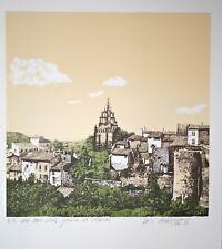 DUBIGEON Loic - Lithographie originale signée - Village