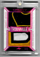 2019-20 Phil Esposito - Marcel Dionne Leaf Superlative Trouvaille Dual Patch 3/5