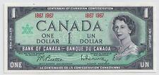 Bank of Canada 1967 $1 Beautiful Centennial Note - CRISP UNC