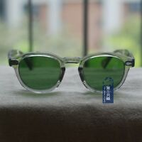 Vintage sunglasses Johnny Depp eyeglasses mens womens frame calibar green lenses