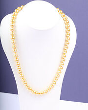 1950s Vintage Gold Tone Faux Pearl Necklace, Bride, Wedding