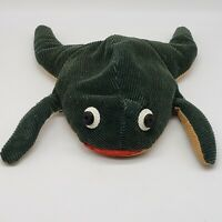 Folk Art Vintage Collectible Flax Seed Bean Bag  Frog Toad Corduroy