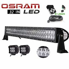 "180W 30 32""inch LED Light Bar + 4"" inch Pods SUV Ford F150 GMC Toyota Jeep"