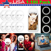 Lot Selfie LED Ring Fill Light Camera Photography Light for iPhone Cell Phone US